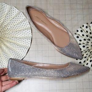Audrey Brooke Shimmer Ballerina Ballet Flats 10